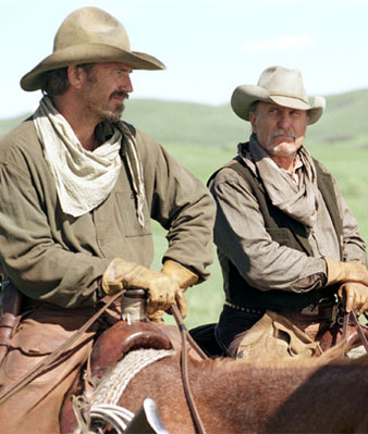 Kevin Costner, Robert Duvall in Open Range
