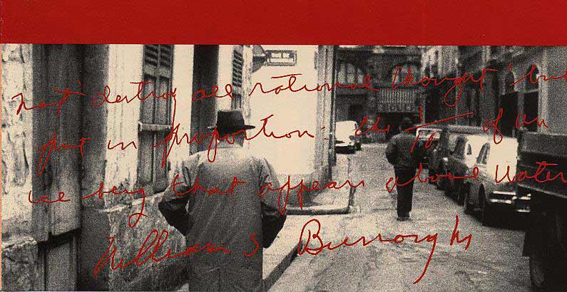 Dal cd di William Burroughs